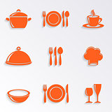 Cooking and kitchen restaurant menu icons