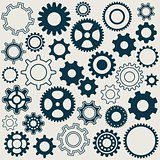 Gear wheels icons