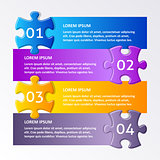Colorful puzzle design template