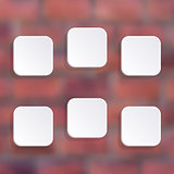 Vector white buttons
