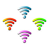 vector wifi wireless hotspot internet signal symbol icon collection