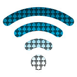 wifi wireless hotspot internet signal symbol icon  blue
