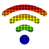 multi color wifi wireless hotspot internet signal symbol icon collection