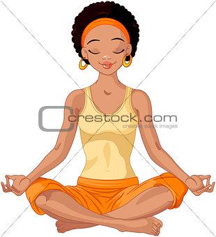 African American Yogi Girl