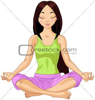 Asian Yogi Girl