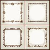 Vector vintage retro frames ornament label