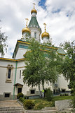 Spring Landscape of Russian Church