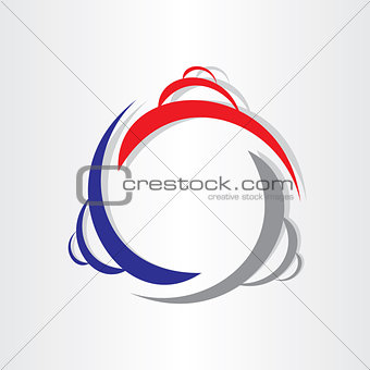 abstract buildings icon design