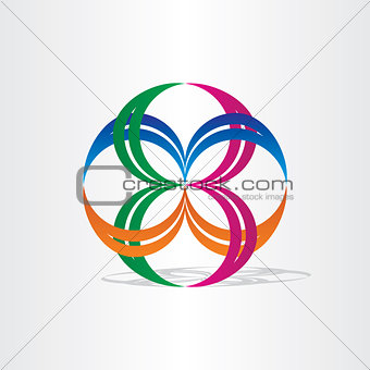 abstract connection icon design