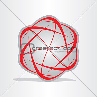 atom energy abstract symbol