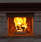 Fireplace closeup