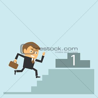businessman achieve the target