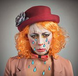 Theatrical sad clown