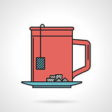 Tea mug flat vector icon