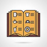 Cafe menu flat vector icon