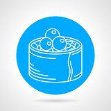Sushi line vector icon