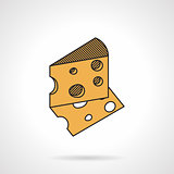 Cheese flat vector icon