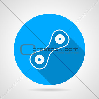 Cell division flat round vector icon