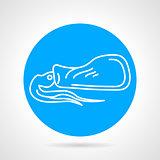 Calamari round vector icon