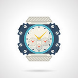 Sport wrist watch flat vector icon