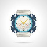 Sport wrist watch flat vector icon