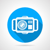 Camera flat round vector icon