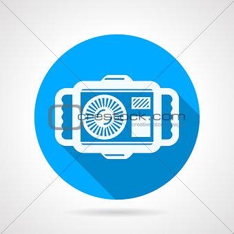 Camera flat round vector icon