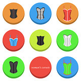 Women's corsets icons