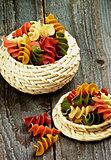 Colorful Rotini Pasta