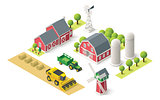 Vector isometric farm set