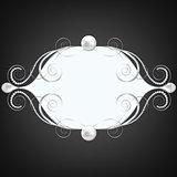 silver jewelry swirly frame