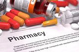 Pharmacy - Medical Concept. Composition of Medicaments.