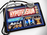 Hypotension on the Display of Medical Tablet.