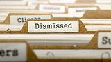 Dismissed Concept with Word on Folder.