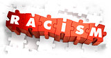 Racism - White Word on Red Puzzles.