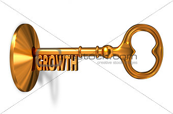 Growth - Golden Key is Inserted into the Keyhole.