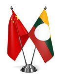 China and Shan State - Miniature Flags.