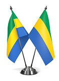 Gabon - Miniature Flags.