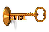 Control - Golden Key is Inserted into the Keyhole.