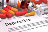 Depression Diagnosis. Medical Concept.