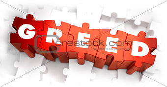 Greed - Text on Red Puzzles.