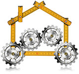 House with Gears - Wooden Meter