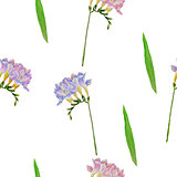 Seamless pattern with freesia flowers-02