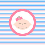 Baby girl color flat icon
