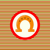 Horseshoe color flat icon