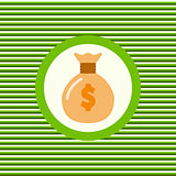 Money bag color flat icon