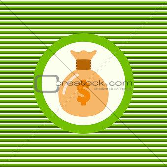 Money bag color flat icon