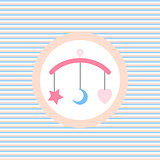 Children lullaby toy color flat icon