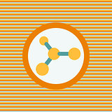 Molecule color flat icon