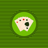 Play cards color flat icon